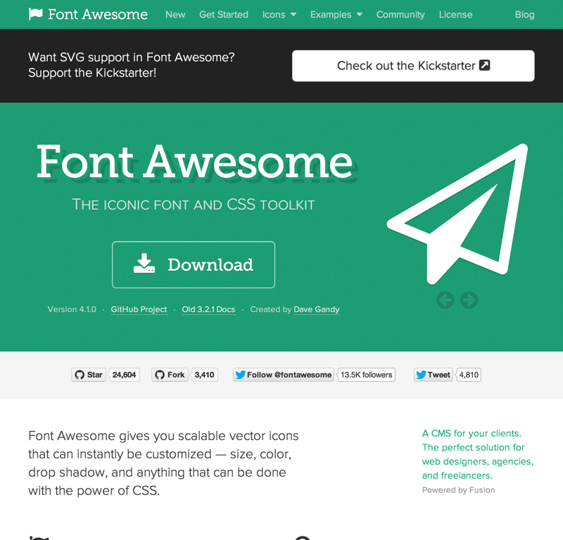 Font Awesome, the iconic font and CSS toolkit (20140704)