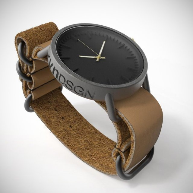 rvnDSGN 3D-Printed Titanium Watch