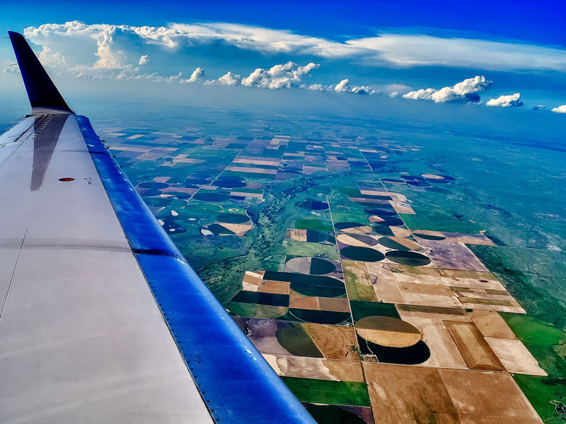 Somewhere over Kansas, USA by Mark Shaiken