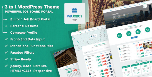 wpjobus 15 Superior Job Board Wordpress Themes & Plugins