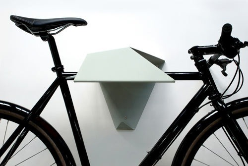 abstract bike shelf
