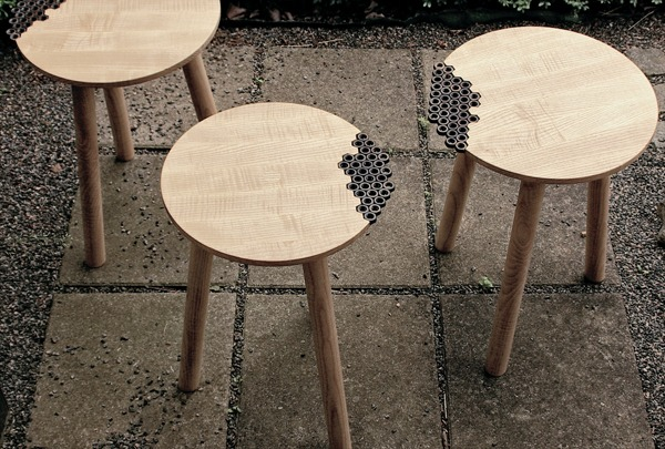 Behold the Nuts Stool by Eunjae Lee.