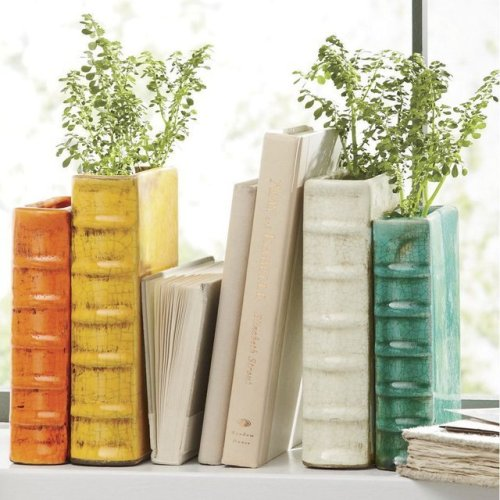Book Vase Bookends