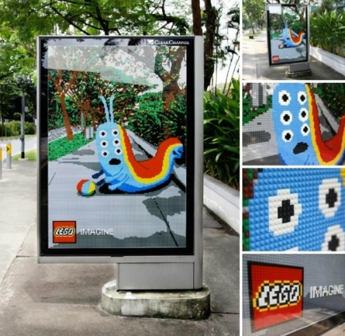 Lego Bus Stop Ad