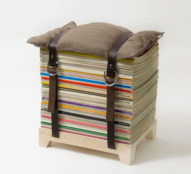 Magazine Stool by Njustudio