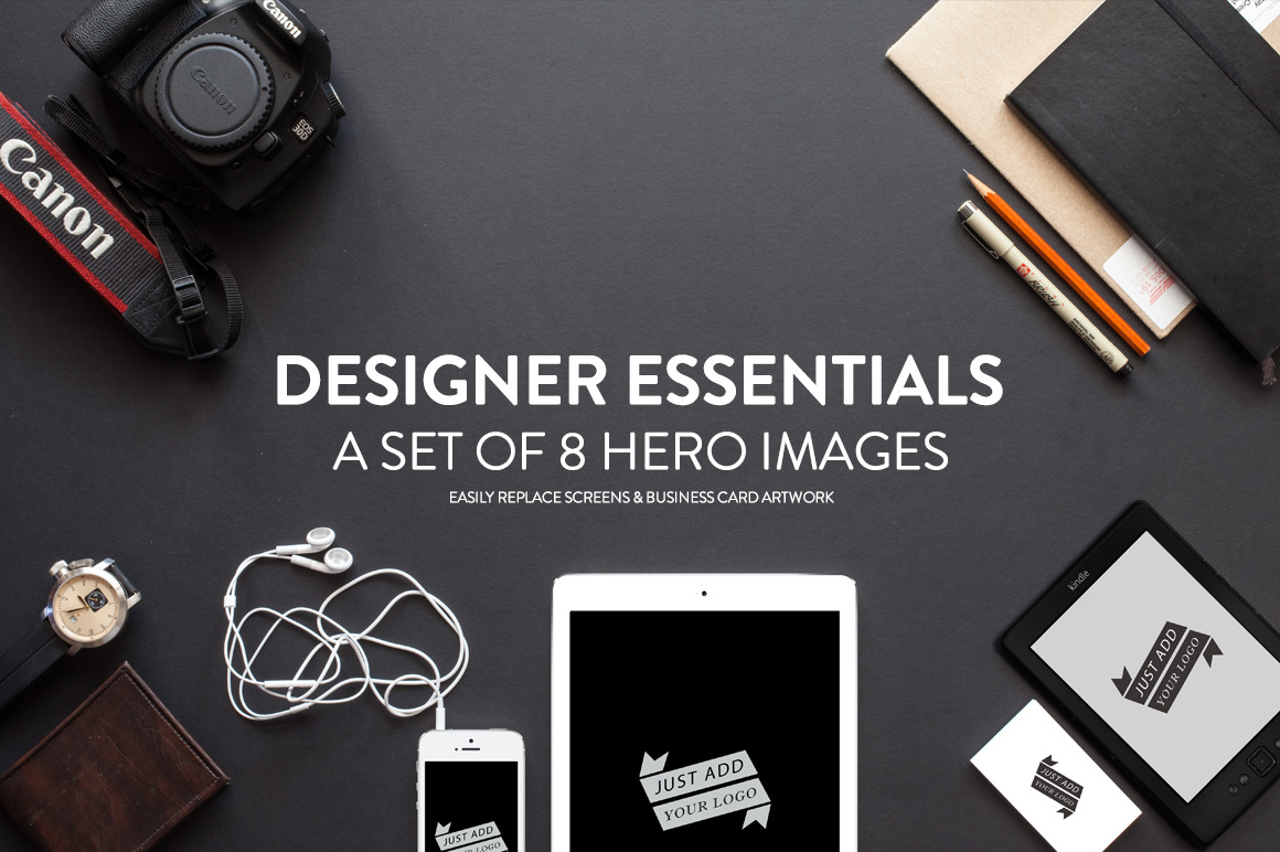8 Designer Essentials Hero Images