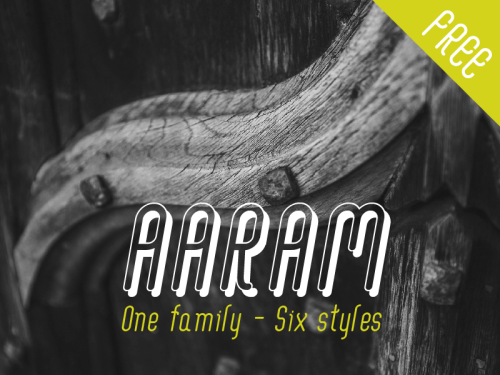 Aaram Free Font by Tharique Azeez