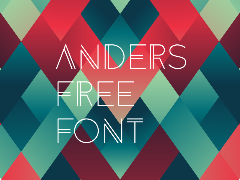 anders by tomanders 50 Free Fonts Youll be Tempted to Download