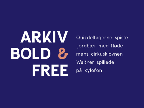 Arkiv Bold Freebie by Timo Kuilder
