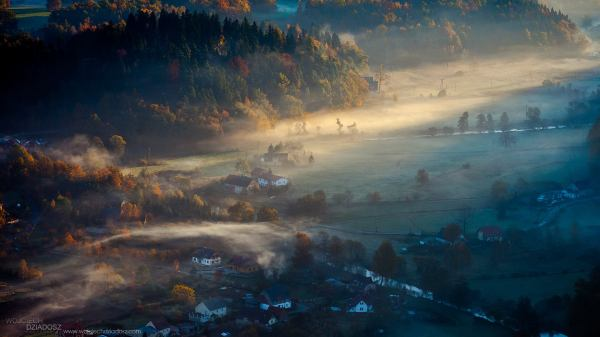 Autumn morning in Poland