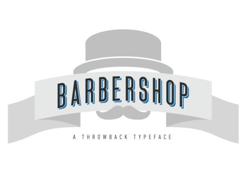 Barbershop Typeface by David Bortnowski