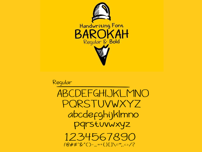 Barokah Font by Ahmed