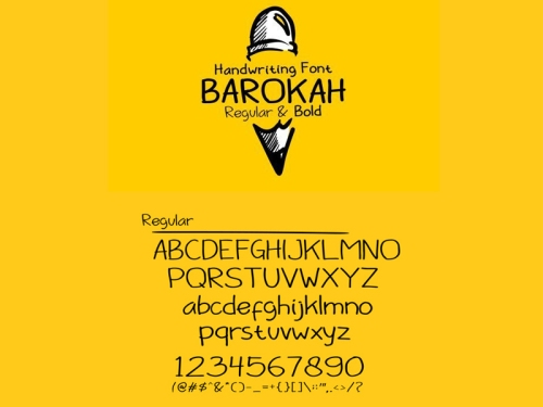Barokah Font by Ahmed