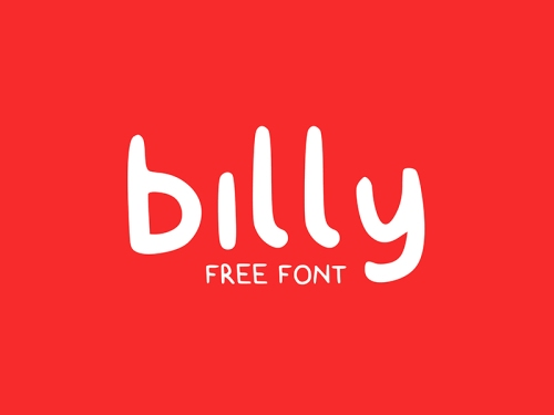 Billy - free typeface by Claire Follow