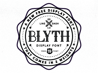 Blyth Font for Free by Nick Slater