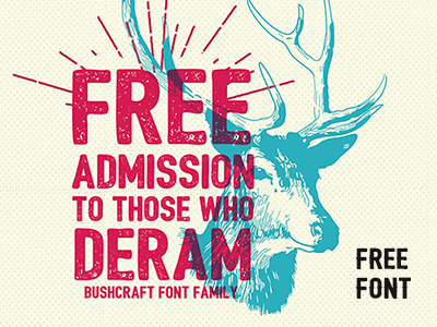 bushcraft font family by pixelbuddha 50 Free Fonts Youll be Tempted to Download