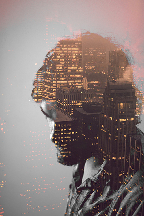 city 35 Incredible Examples of Double Exposure Photography