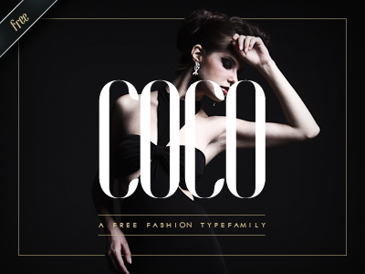 coco free fashion typefamily by hendrick rolandez 50 Free Fonts Youll be Tempted to Download