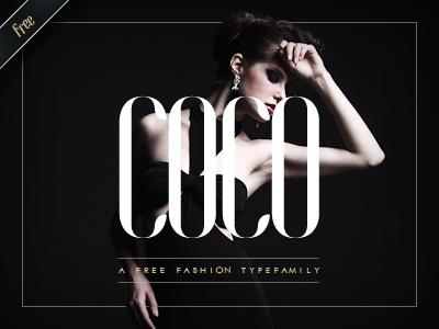 COCO - Free Fashion Typefamily by Hendrick Rolandez