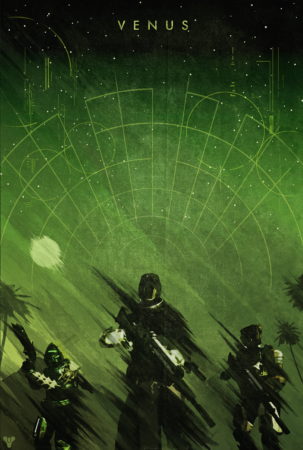 Destiny Planet Poster by Colin Morella