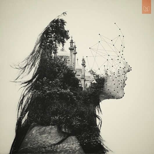 girl 35 Incredible Examples of Double Exposure Photography