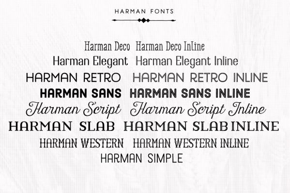 Harman Font Pack