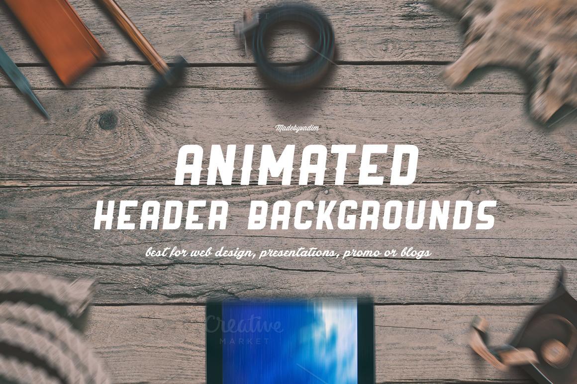 6 ANIMATED Hero/Header backgrounds