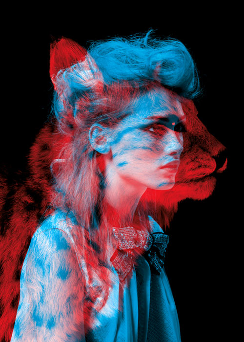 lion 35 Incredible Examples of Double Exposure Photography