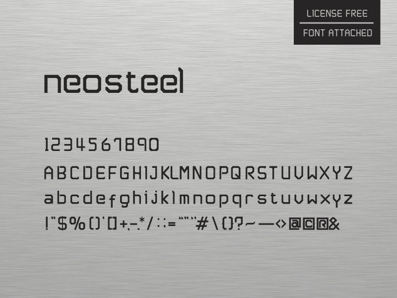 Neosteel - Modern Font by Sam