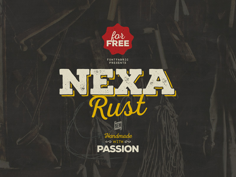 Nexa Rust free font family by Fontfabric