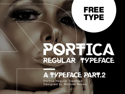 portica typeface by michael 50 Free Fonts Youll be Tempted to Download