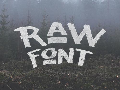 Raw Font by Noe Araujo