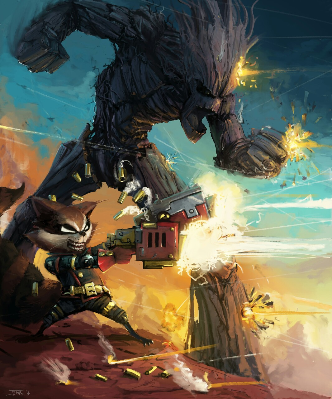 Rocket & Groot by Rob Jenx