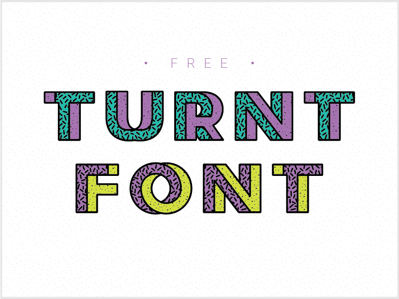 Turnt Font by Anthony Gehin