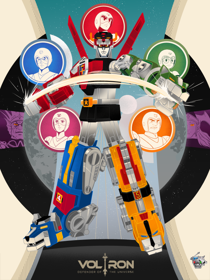 Voltron 30th Anniversary Poster by Vincent Rhafael Aseo