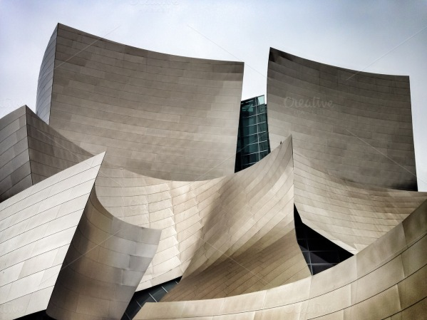 Walt Disney Concert Hall Tower by Graphic Wallace