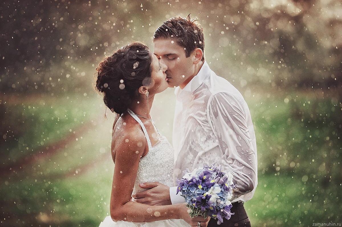 Wedding in the rain by Ivan Zamanuhin