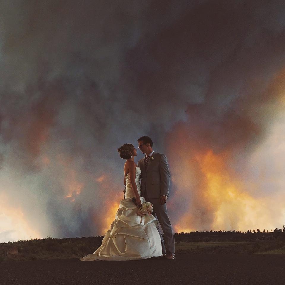 Wildfire wedding by Josh Newton