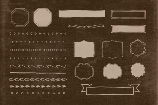 22 Hand Illustrated Vintage Shapes v.2