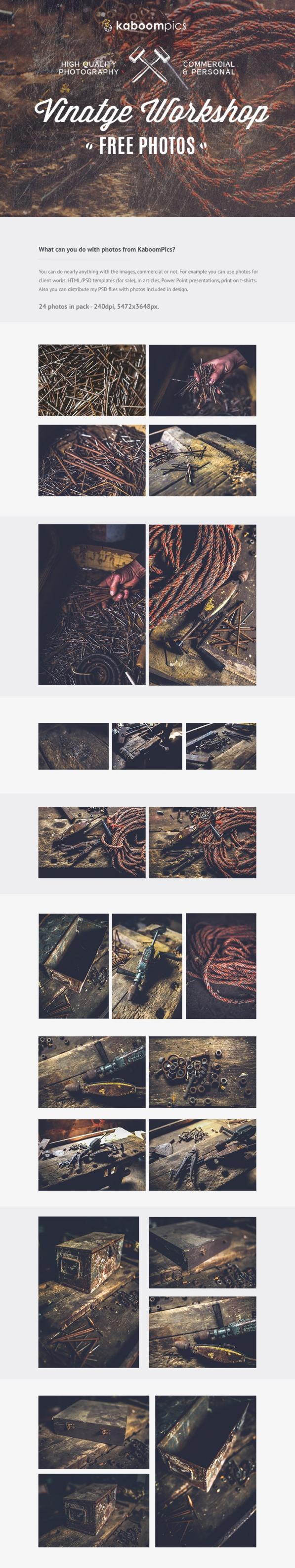 24 Free Photos – Vintage Workshop