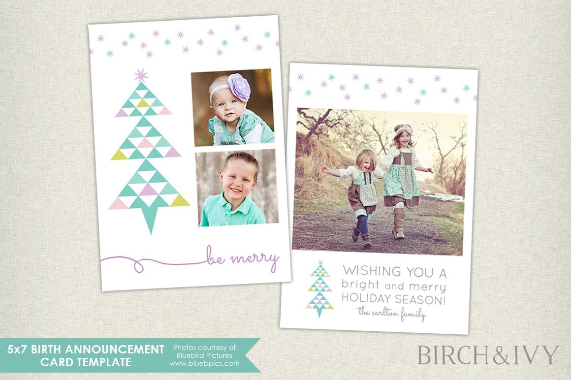 5x7 Christmas Holidays Photo Card