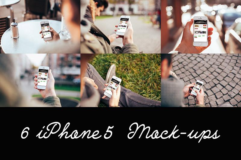 6 Free iPhone 5 Mockups