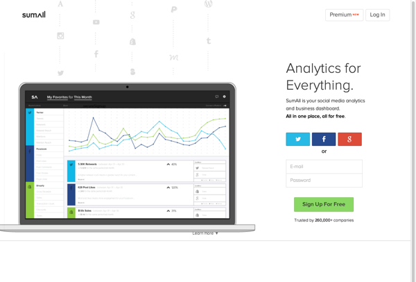All-in-one social media & ecommerce analytics | SumAll (20141027)