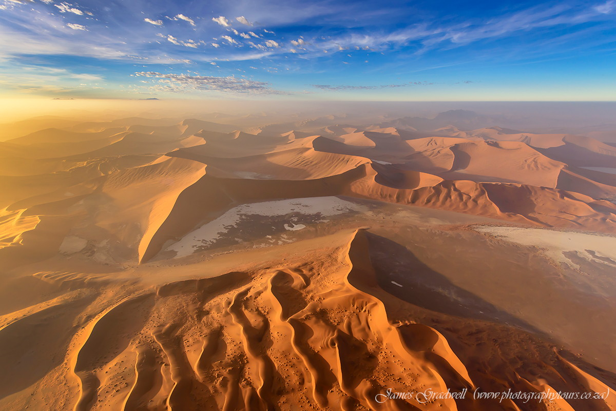 Bird's Eye View of Namib Desert at Sunrise, Namibia by James Gradwell