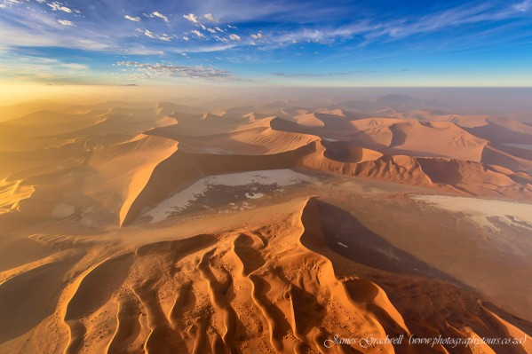 Bird's Eye View of Namib Desert at Sunrise, Namibia by James Gradwell