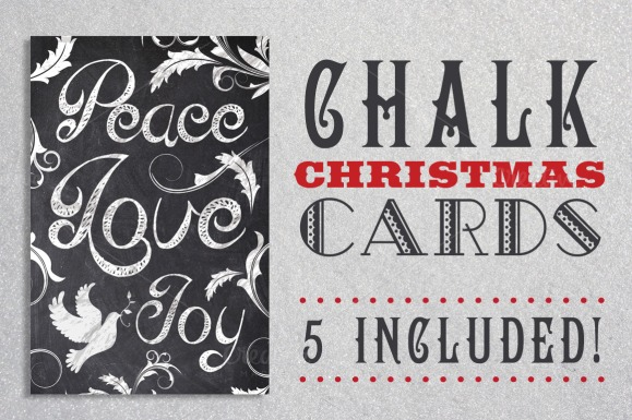 Chalk Christmas Card Bundle
