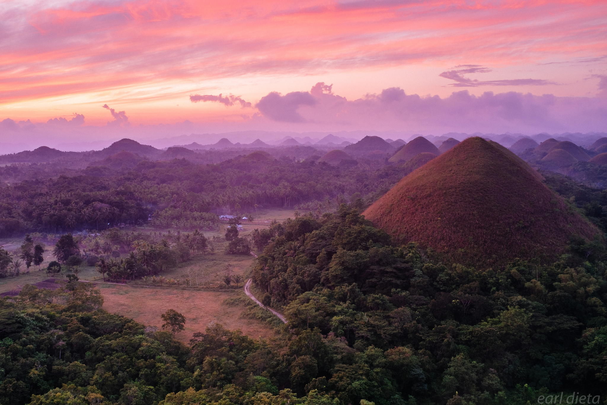 Chocolate Hills in Bohol Province, Philippines. by Earl Dieta