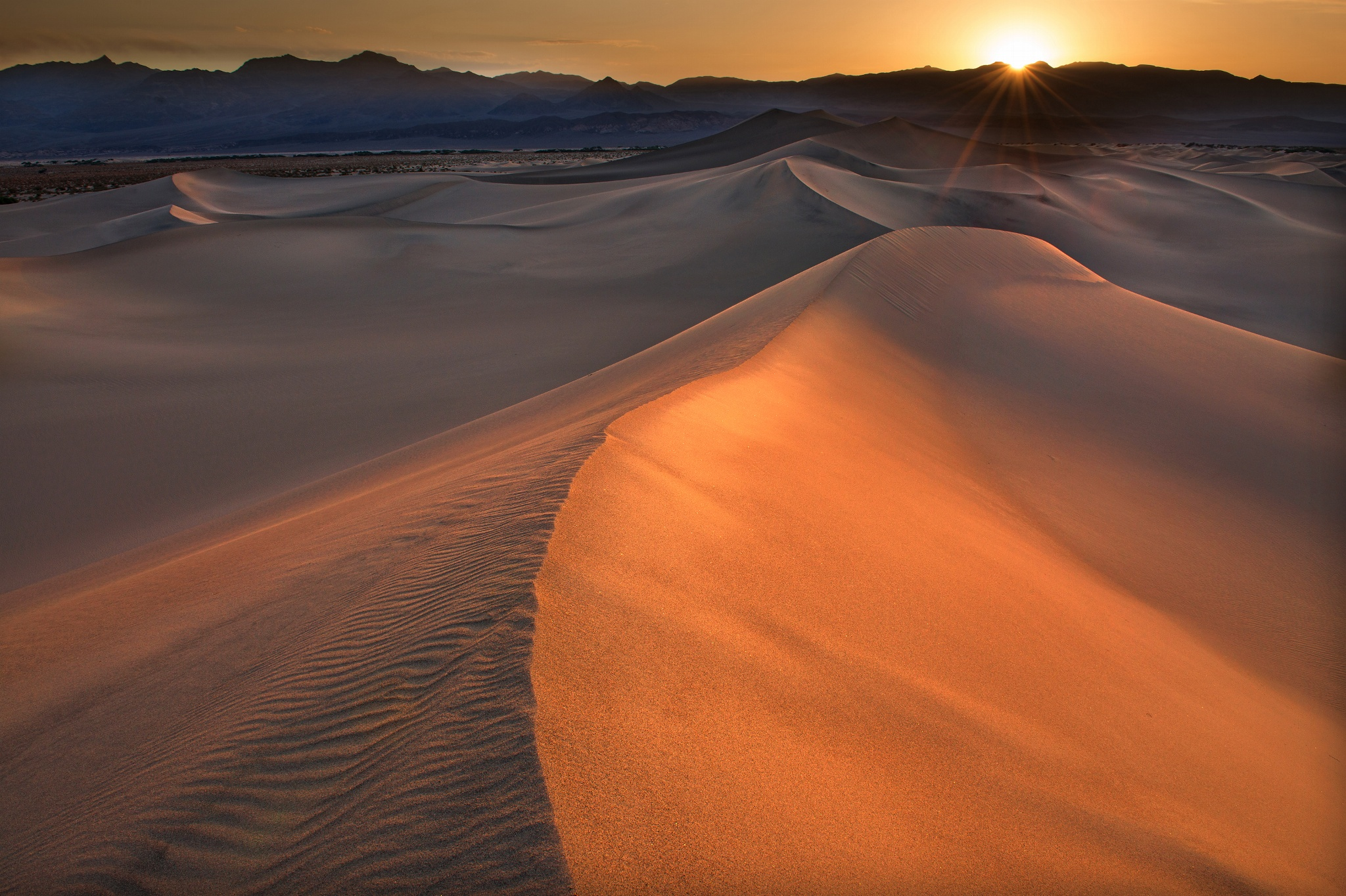 Dunes in Death Valley by Michael Hubrich