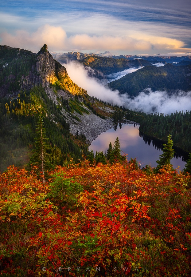 Fall Colors in the North Cascades, Washington State by Bryan Swan