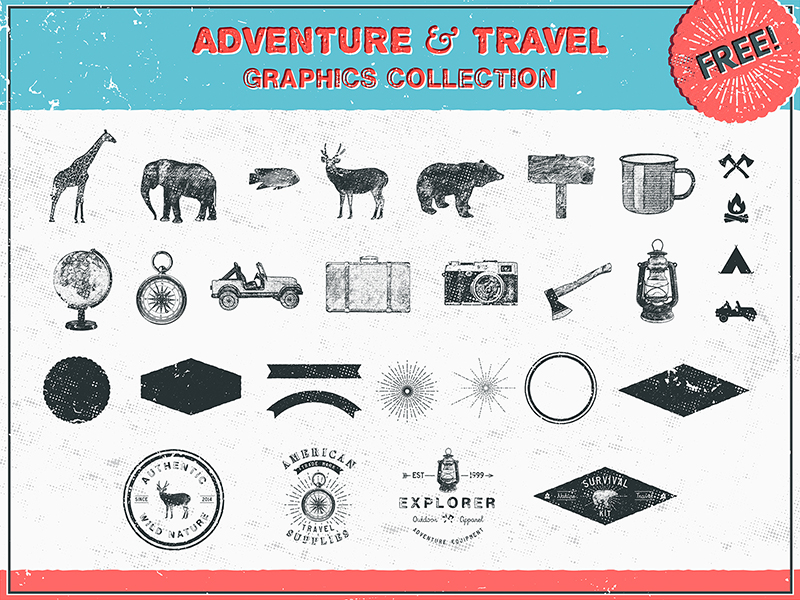 Free Adventure and Travel Shapes & Logos